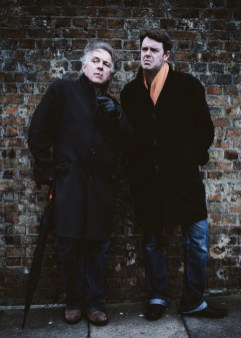 March 2013, London UK. Rik Mayall and Craig Green from 'The Last Hurrah'