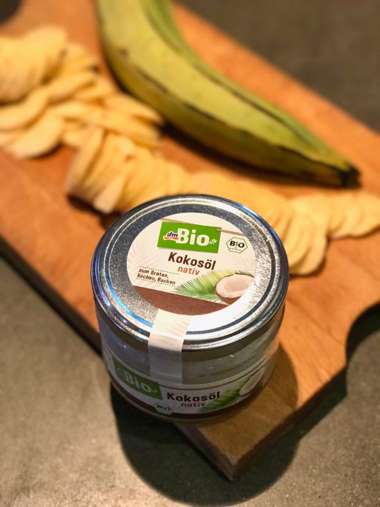 Kokosöl für Kochbananen Chips