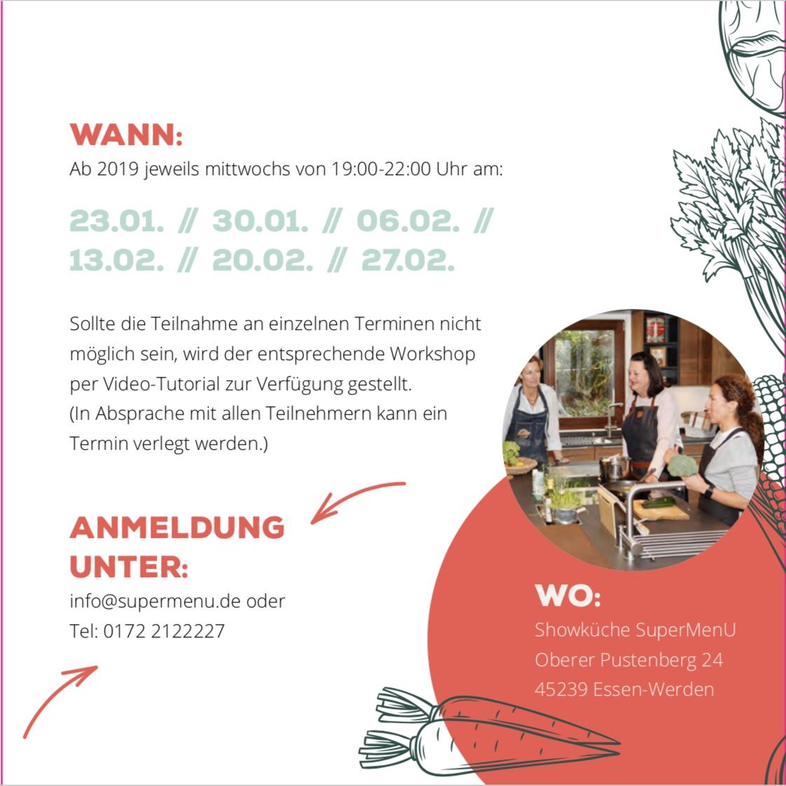 6-Wochen-No-Carb-Workshop: Wann und Wo