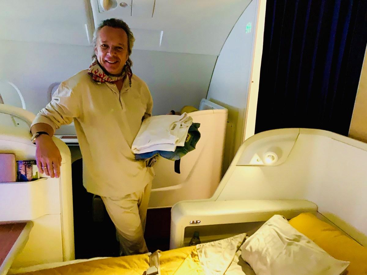 Flug Paris-Bangkok Gute Nacht