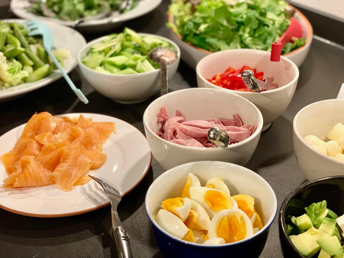 No-Carb-Workshop: Zutaten Salatbaukasten