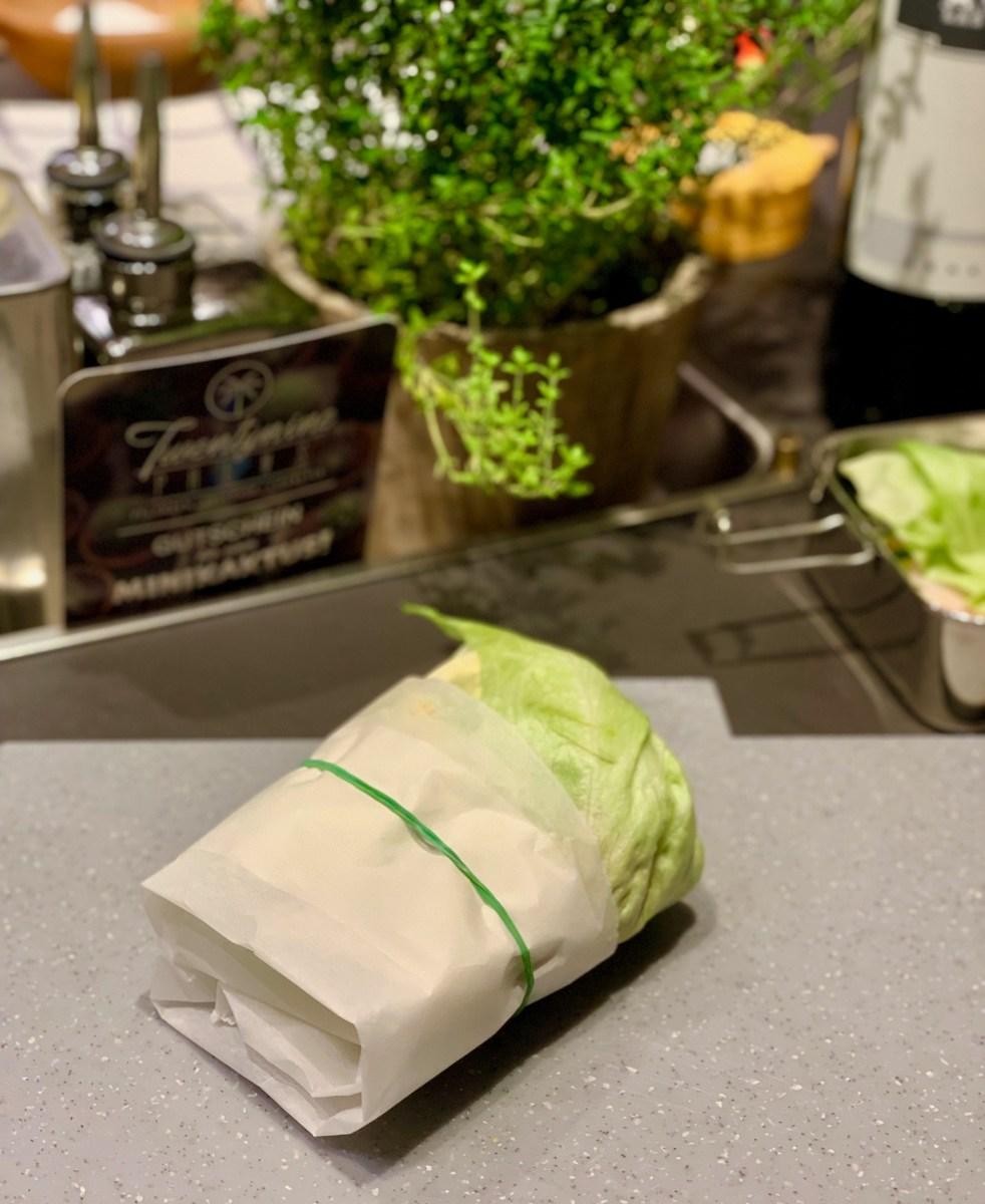 No-Carb-Workshop: Eisbergsalat-Wrap