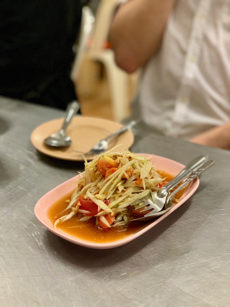 Weltreise: Bangkok Food-Tours Papaya-Salat