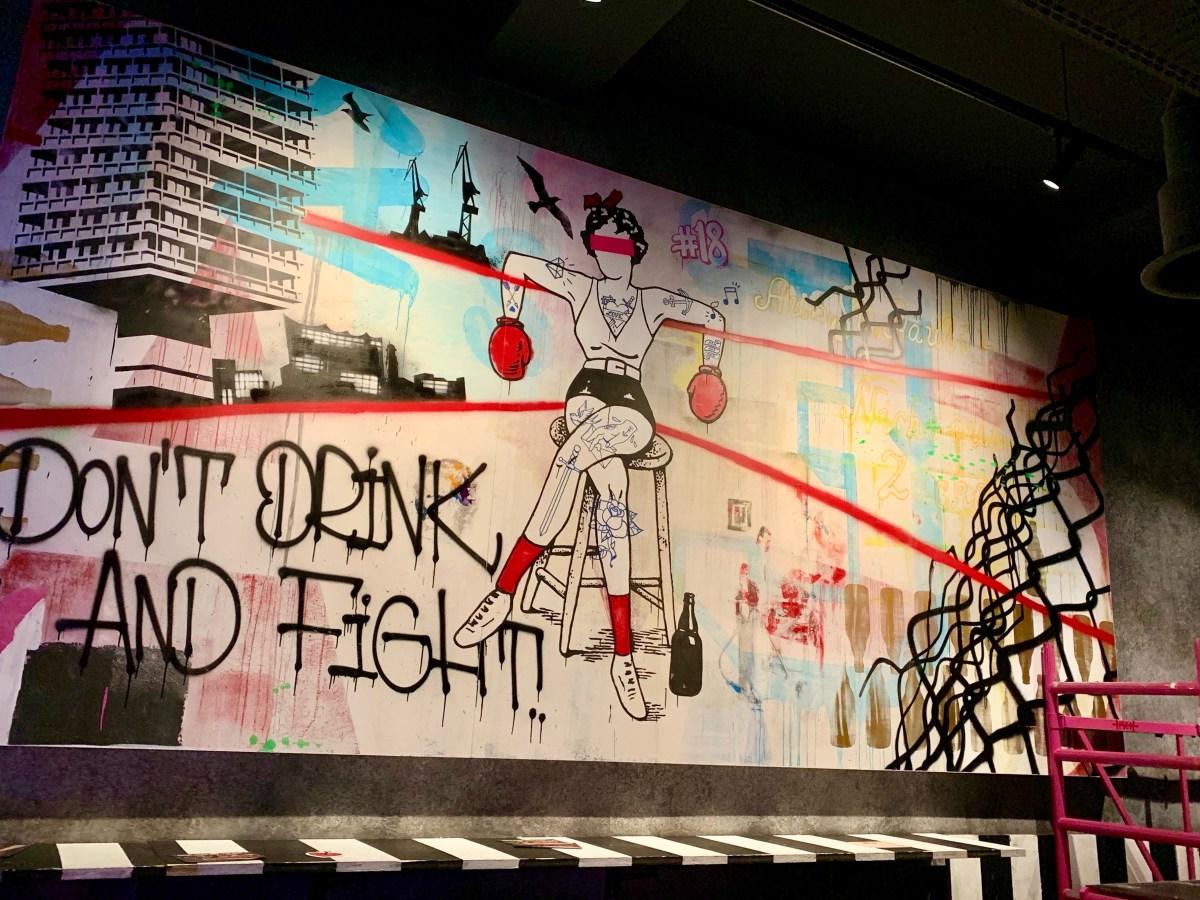Astra Brauerei: Wandgemälde Boxring