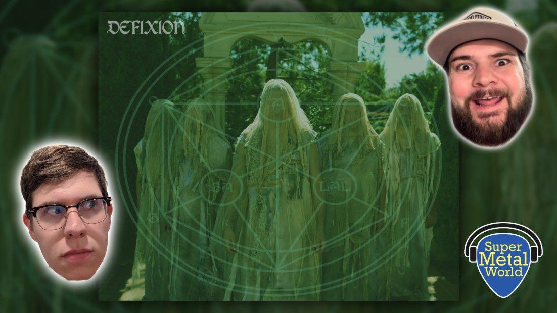 Defixion album art, four individuals in ceremonial garb