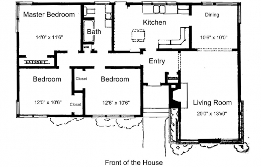 Simple House Plan With 3 Bedrooms May 2019