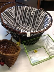 Just a few of my recent secondhand basket finds, ranging in price from $0.97 to $2.50.