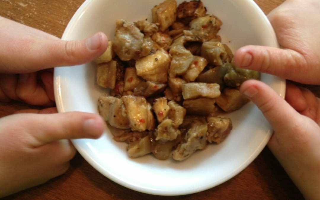 Four-Thumbs-Up Roasted Eggplant