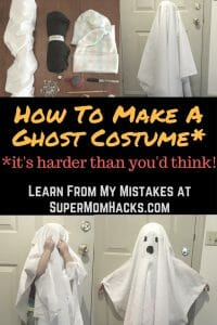 Want to make a ghost costume out of an old sheet for your kid this Halloween & How To Make A Ghost Costume (Itu0027s Harder Than Youu0027d Think!) - Super ...