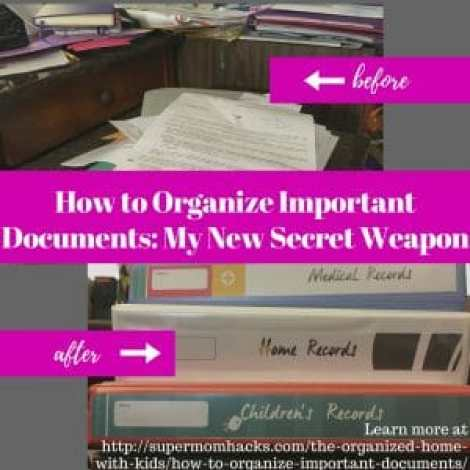 Wish you knew how to organize important documents more effectively? I've discovered the ultimate secret weapon in the ongoing battle against paper clutter and lost papers.