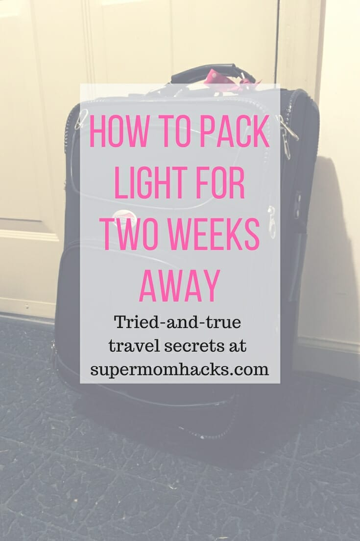 Two weeks, one suitcase? No problem! The art of how to pack light for two weeks away is easier than you'd think, once you know these hacks.