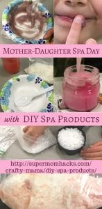 What's the only thing better than a mother-daughter spa day with your little girl(s)? A spa day with homemade DIY spa products - bonding time that's fun AND inspiring!