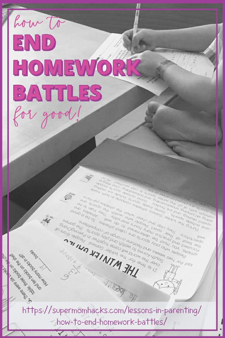 Do your kids have a hard time getting their homework done after school without lots of prodding? These tips can help your family end homework battles for good!