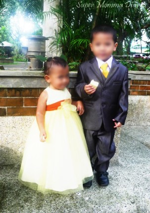 My pretty flower girl and handsome coin bearer :)
