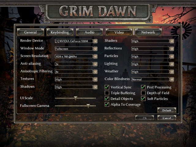 Grim Dawn Options Insert
