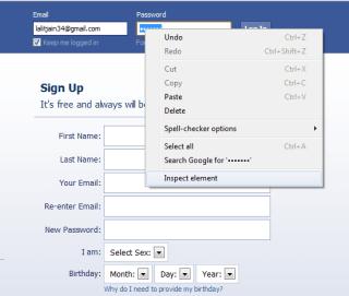 hacking friends facebook password