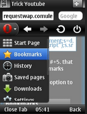 How to download youtube videos with opera mini on mobile tips after saving the bookmarkgo to youtube and search for the video you want to download ter you have determined the video scroll down the page and ccuart Images