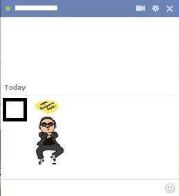 gangnam style emoticon for facebook chat
