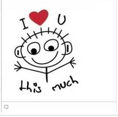 facebook chat emoticons I love you this much