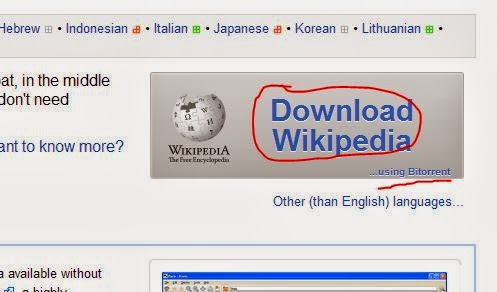 Download the entire Wikipedia and access it offline with