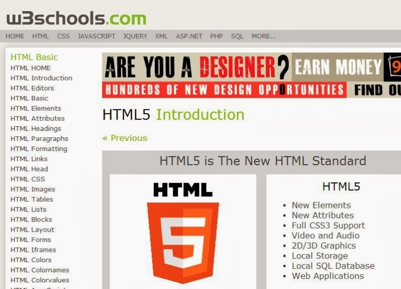 w3schools Offline version 2013 - How to Access Whole Website