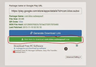 Download apk files to PC