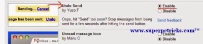 undo sent mail in gmail