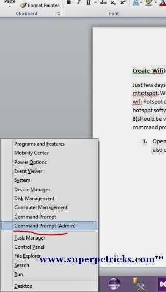 Create Wifi Hotspot on Windows 7 / Windows 8 Laptop Without Using