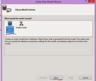 entity framework model wizard not responding