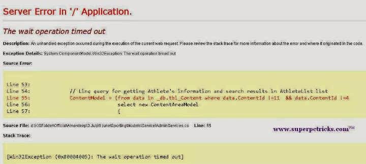Sql Server Database Error : The underlying provider failed on Open