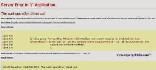 Sql Server Database Error