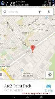 Saving a google map