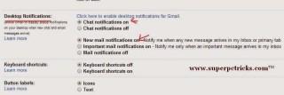 enable gmail desktop notifications chrome