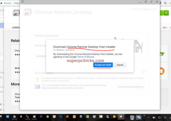 control your Pc from android phone using chrome remote desktop