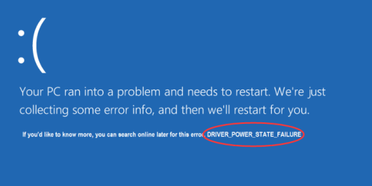 driver power state failure win 10