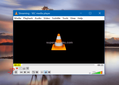 vlc screen capture not working