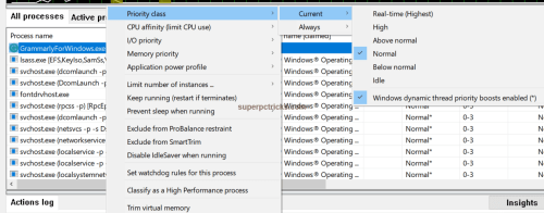 how to set a program to high priority windows 10