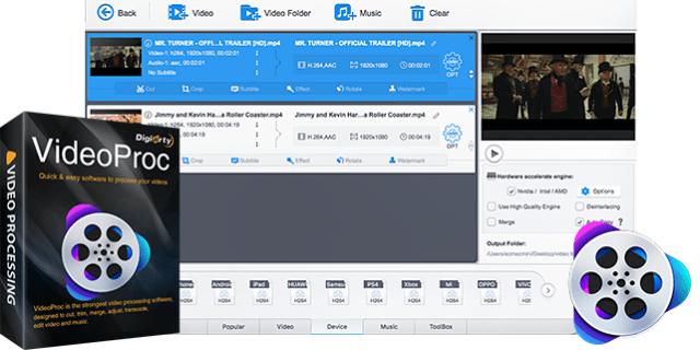 videoproc video editor software