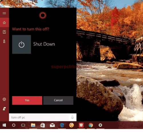 shut down your pc using voice
