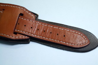 BuonGustoItaliano Handmade Leather Cuff Apple Watch Band 15