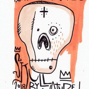 Tarek dessin et illustration au feutre, squelette