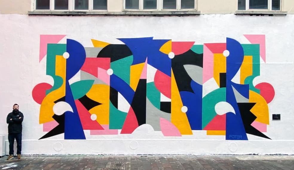 Post-Graffiti, géométrie et abstraction par l'artiste Poter