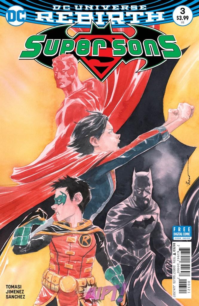 Super Sons #3 - Variant cover par Dustin NGuyen