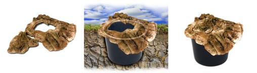 Kamień maskujący zbiornik z wodą przy kaskadzie ogrodowej - sposób użycia