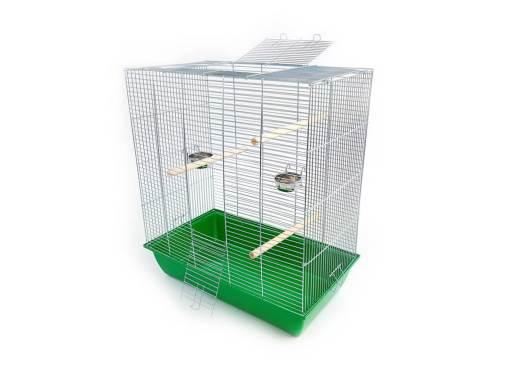 Klatka dla ptaków Mega3, zielona kuweta