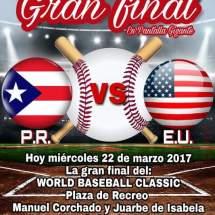 Esta noche la gran final del WORLD BASEBALL CLASSIC en nuestra plaza de Isabela