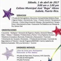 Relevo por La Vida te invita a Feria de Salud 1 de abril 2017