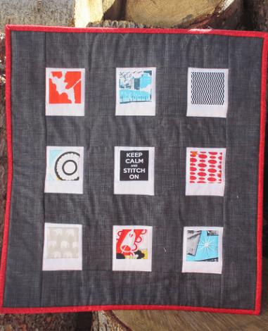 Poaroid mini-quilt