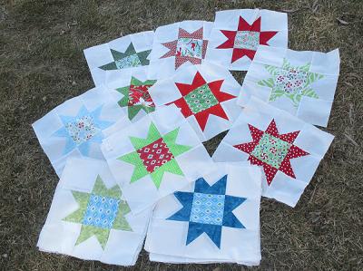 Christmas Stars Quilt Blocks