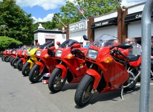 A Row of Ducati's